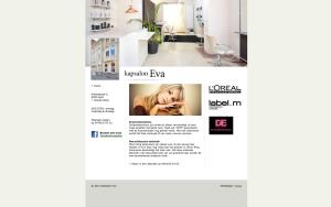 Kapsalon Eva website slide