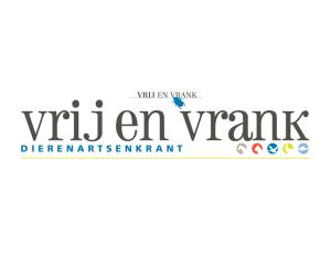 Vrij en Vrank Dierenartskrant logo